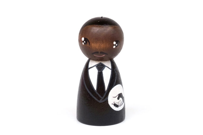 Martin Luther King, Jr. DREAM BIG painted wooden peg doll, inspirational people in history