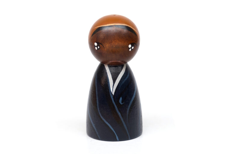 Harriet Tubman DREAM BIG painted wooden peg doll, educational toys