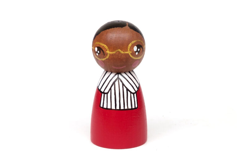 Rosa Parks DREAM BIG painted wooden peg doll, iconic women in history